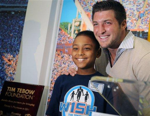 Tim Tebow and His Charitable Works